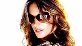 Alessandra Ambrosio Wearing Goggles Face Closeup N White Background